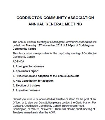- Annual General Meeting